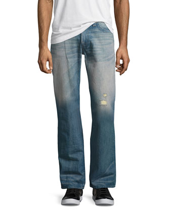 Ricky Quick Fade Denim Jeans, Blue