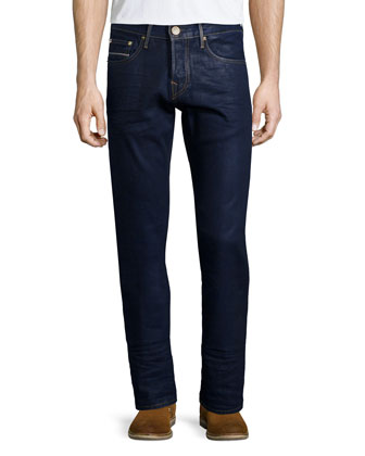 Geno Block Party Selvedge Jeans, Dark Blue