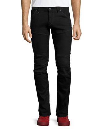 5620 3D Slander Super-Slim Jeans, Black