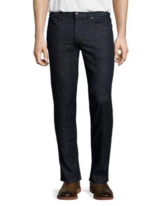 Classic Lynn Dark Denim Jeans, Dark Blue