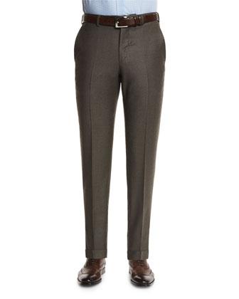 Herringbone Cashmere-Blend Jacket, Saturated Check Long-Sleeve Dress Shirt ...