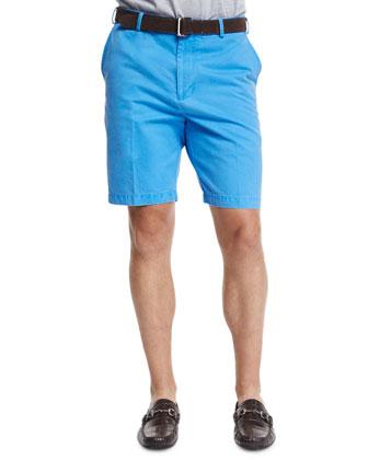 Winston Washed Twill Shorts, Blue