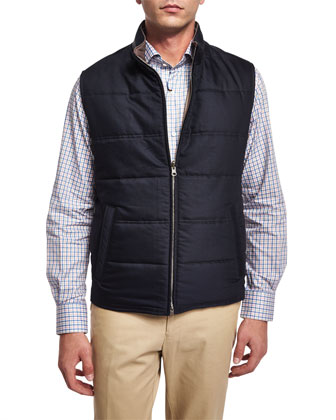 Sloan Reversible Quilted Vest, Navy