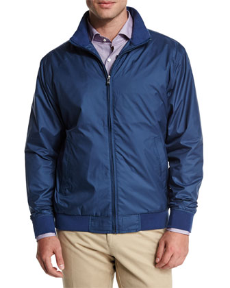 Geometric-Print Long-Sleeve Sport Shirt, Blue Pattern
