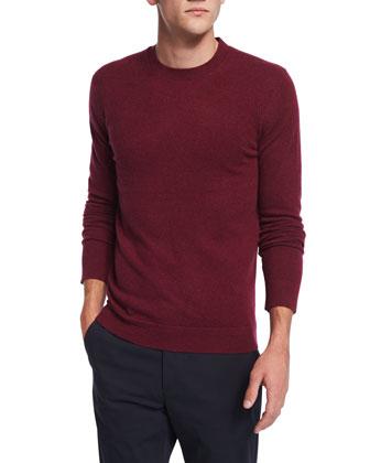 Vetel Cashmere Long-Sleeve Sweater, Dark Red