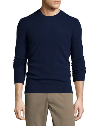Vetel Cashmere Long-Sleeve Sweater, Navy