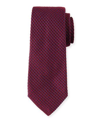 Tonal Honeycomb Neat Silk Tie