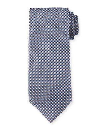 3D Geometric Neat Silk Tie