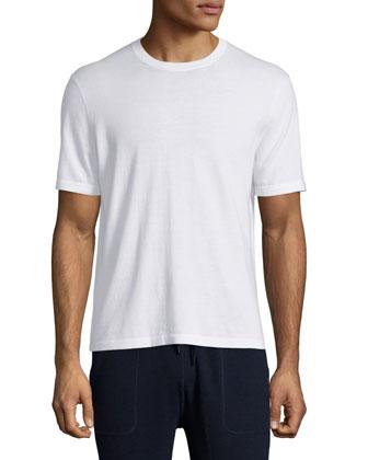 Nylon-Trim Half-Zip Pullover Sweater, Gray