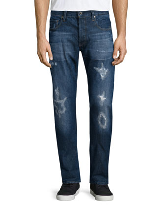 Stean Tapered-Leg Neya Denim Jeans, Blue