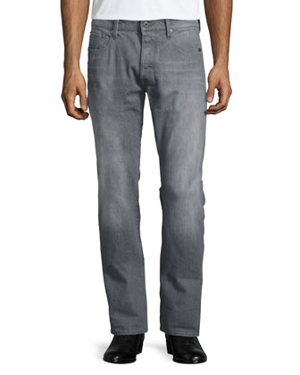 Stean Tapered-leg Accel Stretch Denim Jeans, Gray