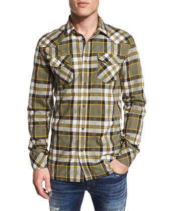 S-Zulphuris Plaid Long-Sleeve Shirt