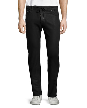 Dean Twisted Relaxed-Leg Jeans, Black