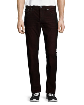 Geno Chili Pepper Slim-Fit Jeans, Black/Red