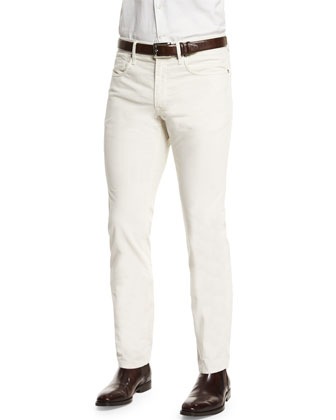 Ray Washed Moleskin Pants, White