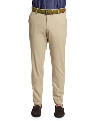Cashmere Quarter-Zip Pullover Sweater & Raleigh Washed Twill Pants
