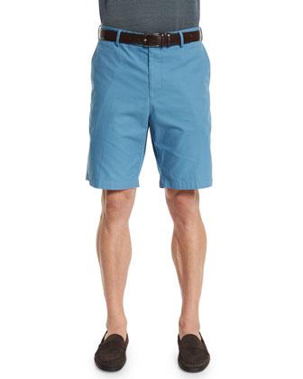 Lightweight Twill Shorts, Dark Blue