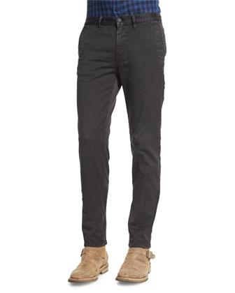 Stan Check Long-Sleeve Shirt, Navy/Black