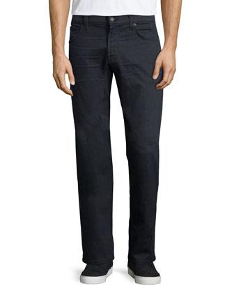Luxe Performance: Carson Equinox Denim Jeans, Dark Gray