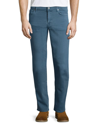 Luxe Performance: Slimmy Slate Denim Jeans