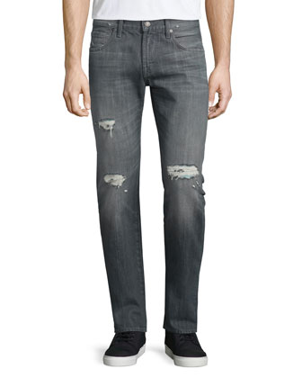 Paxtyn Destroyed Denim Jeans, Axim