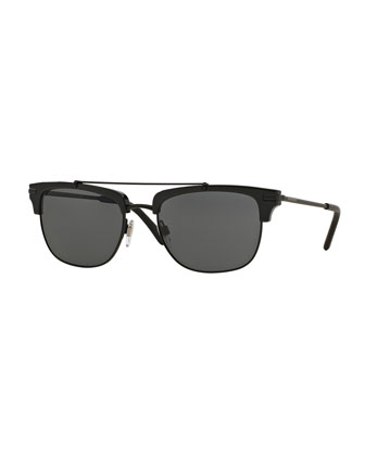 Half-Rimmed Square Sunglasses