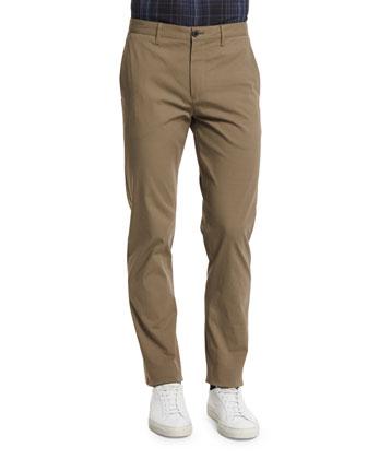 Zaine Slim Straight-Leg Pants, Dark Till