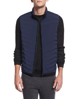 Corick Lightweight Puffer Vest, New Navy