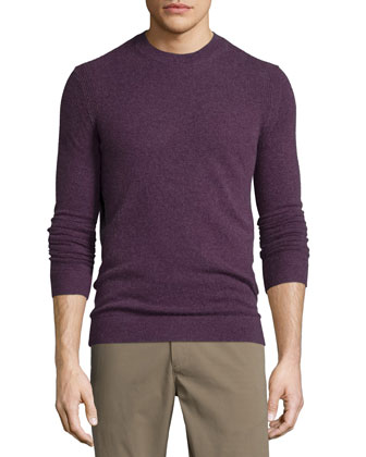 Vetel Long-Sleeve Cashmere Sweater, Grist