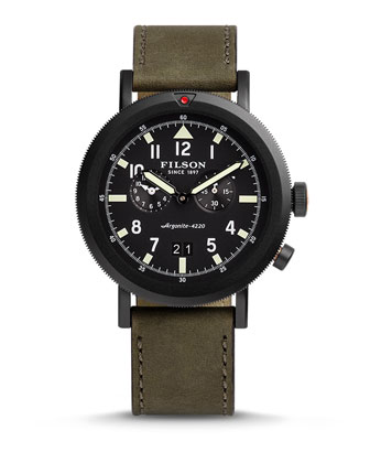 45.5mm Scout Dual-Time Watch, Black
