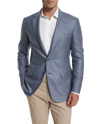 Madrid Cashmere Twill Sport Jacket & Stretch-Cotton Slim-Fit Trouser Pants