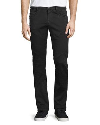 Interlock Star-Print V-Neck T-Shirt, Black/White