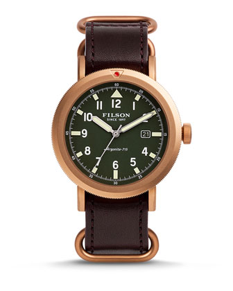 45.5 Scout Watch with Leather Strap
