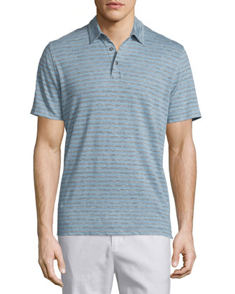 Feeder-Stripe Short-Sleeve Polo Shirt