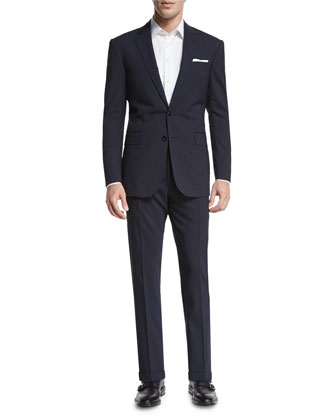 Anthony Two-Piece Wool Suit, Navy