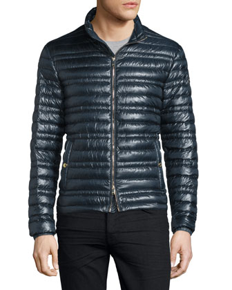 Torford Lightweight Quilted Down Jacket, Navy