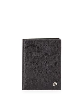 Bourdon Leather Passport Holder, Black