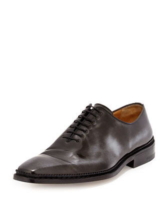 Amedeo Testoni Lace-Up Oxford, Black