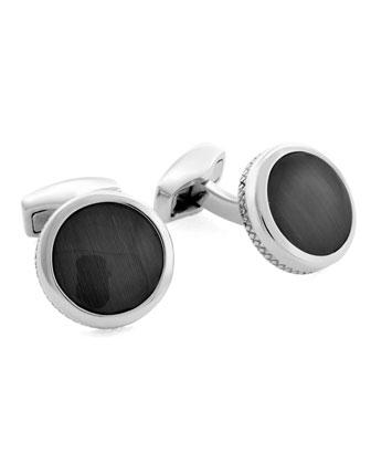 Round Fiber Optic Cuff Links