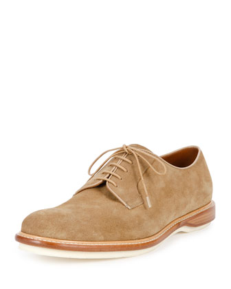 Steve Suede Derby Shoe, Tan