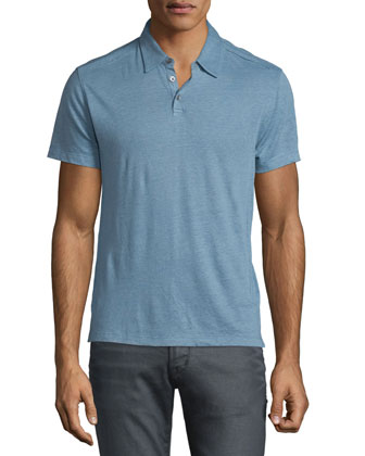 Short-Sleeve Polo Shirt, Water