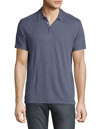 Short-Sleeve Polo Shirt, Hydrangea