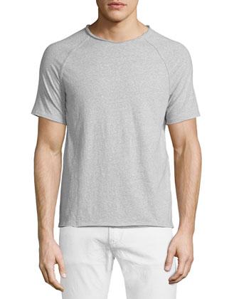 Crewneck Raglan Short-Sleeve T-Shirt, Zinc