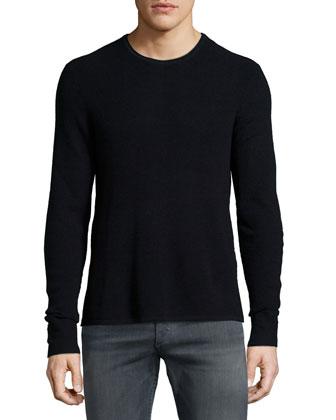 Garrett Textured Wool Sweater, Black