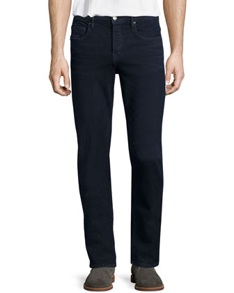 DENIM L'Homme Placid Straight-Leg Jeans, Dark Blue