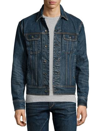 Standard Issue Button-Down Jean Jacket, Worn Blue