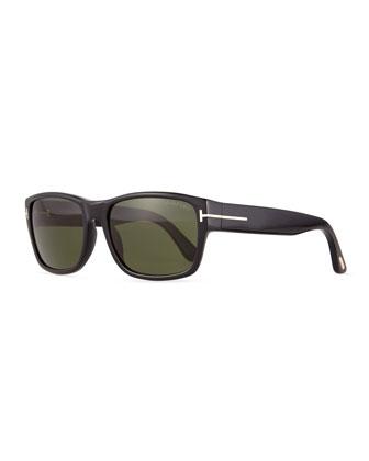 Mason Shiny Sunglasses, Black