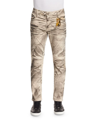 Motard Twill Pants, Beige