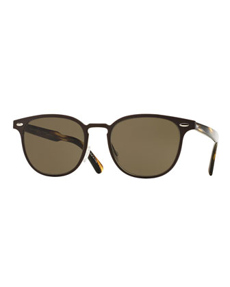 Sheldrake 54 Metal Sunglasses, Brown