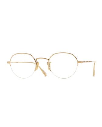 Roland 47 Round Fashion Glasses, Golden